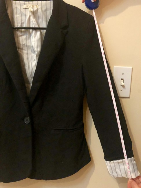 Just Ginger Stripes Black Blazer