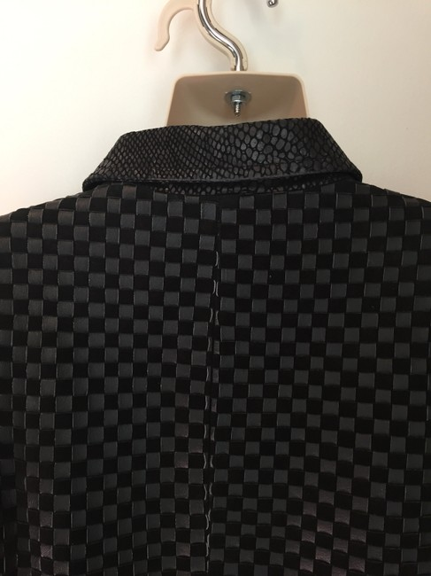 Marvin Richards Suede Woven black Leather Jacket