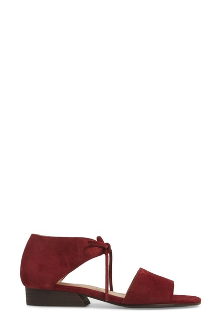Eileen Fisher Burgundy Ely Suede Ankle Strap Sandals Size US 5 Regular (M, B) Eileen Fisher Burgundy Ely Suede Ankle Strap Sandals Size US 5 Regular (M, B) Image 1