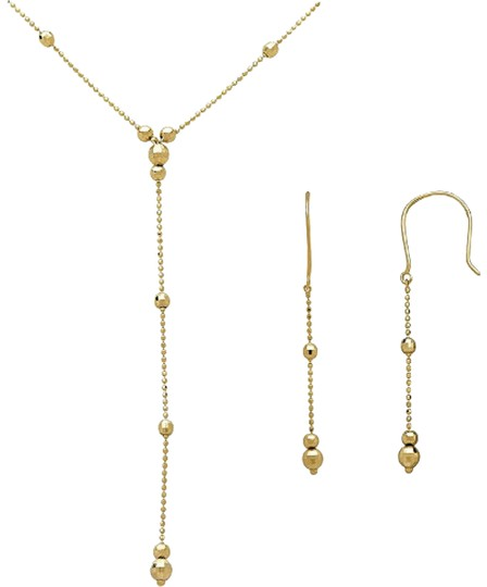Preload https://img-static.tradesy.com/item/24181797/macy-s-14k-gold-lariat-and-earring-set-in-yellow-necklace-0-7-540-540.jpg
