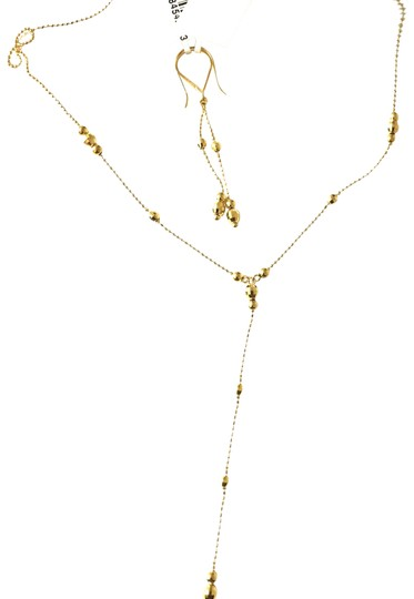 Macy's Lariat and Earring Set in 14K Yellow Gold Image 1