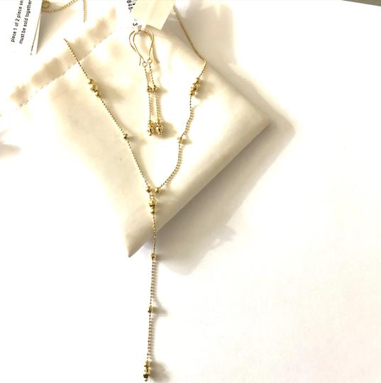 Macy's Lariat and Earring Set in 14K Yellow Gold Image 2