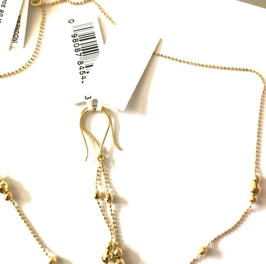 Macy's Lariat and Earring Set in 14K Yellow Gold Image 3