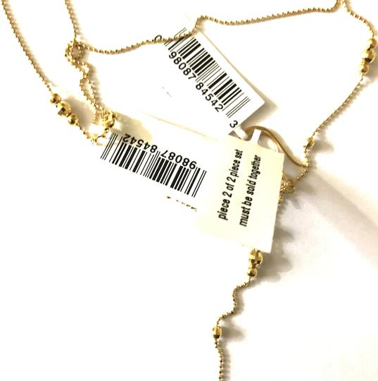 Macy's Lariat and Earring Set in 14K Yellow Gold Image 6