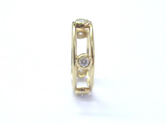 Tiffany & Co. Tiffany & Co 18Kt Diamond By The Yard Yellow Gold Ring .30Ct Size 6