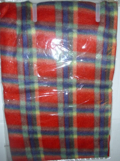 Royal Rossi Bright plaid check cashmere muffler scarf gift fringed men women