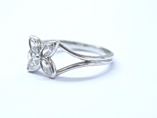 Tiffany & Co. Tiffany & Co Platinum Victoria 4 Diamond Marquise Ring .32Ct