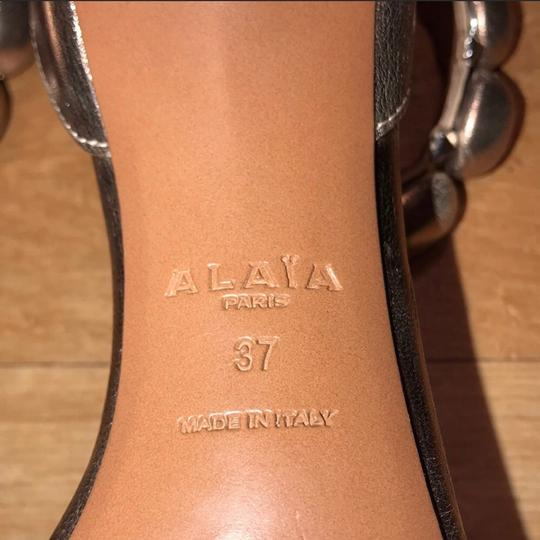 ALAA Rose Gold Pumps