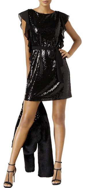 Preload https://img-static.tradesy.com/item/24181844/michael-kors-black-womens-sequined-mini-party-short-cocktail-dress-size-8-m-0-1-650-650.jpg