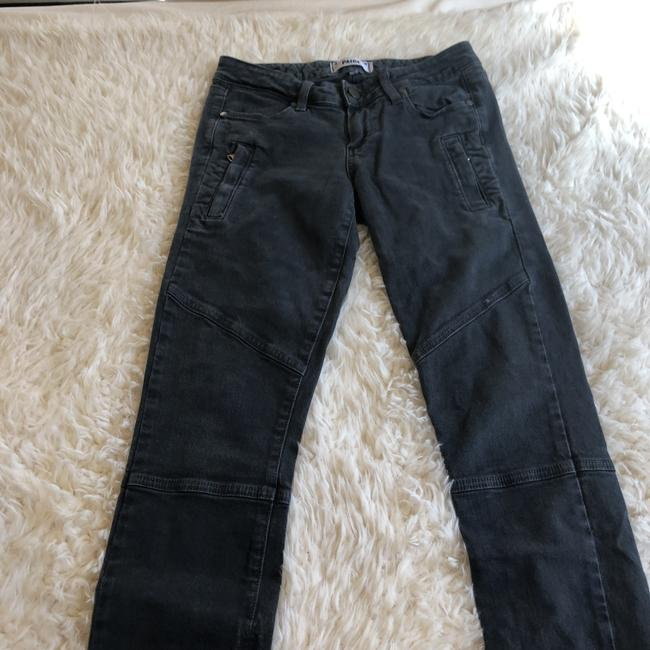 Paige Moto Gray Casual Work Skinny Jeans