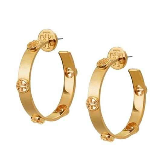 Tory Burch Tory Burch Milgrain Hoop Earrings