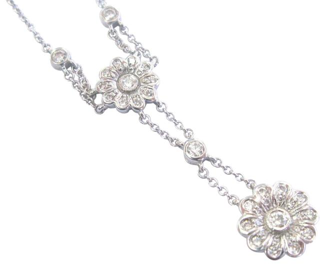 Tiffany & Co. Platinum Floral Diamond Rose Collection .45ct 18 Necklace Image 1