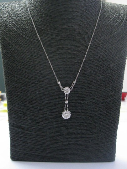 Tiffany & Co. Tiffany & Co Platinum Floral Diamond Rose Collection Necklace .45Ct 18