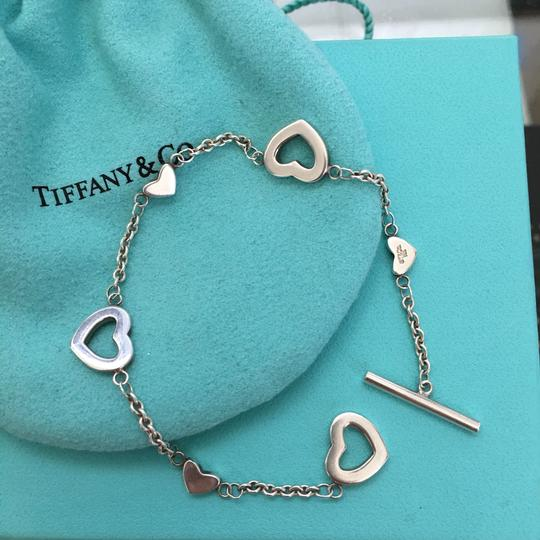 Tiffany & Co. Silver Open Heart Lariat Toggle