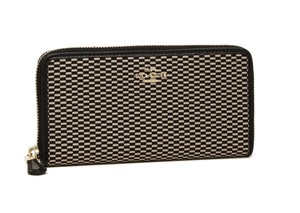 Coach COACH F13677 ACCORDION ZIP WALLET IN LEGACY JACQUARD