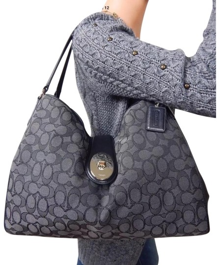 Preload https://img-static.tradesy.com/item/24181898/coach-carlyle-f56221-signature-outline-smoke-gray-black-canvas-smooth-leather-hobo-bag-0-1-540-540.jpg