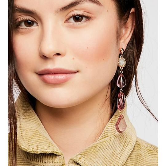 Free People free people crystal clear asymmetrical earring