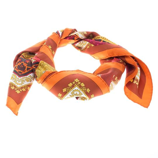 Hermès Multicolor Brins D'or Printed Silk Square Scarf