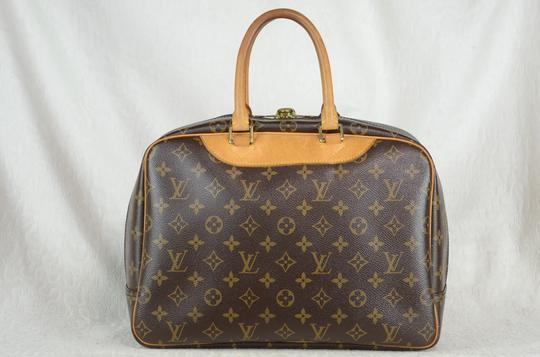 Louis Vuitton Deauville Monogram Canvas Tote in Brown