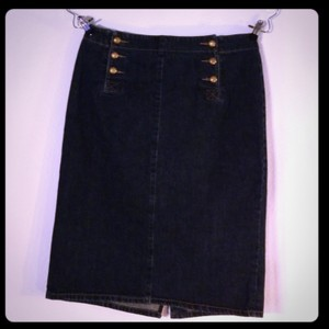 Lauren Jeans Company Skirt Dark Blue
