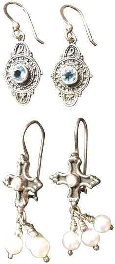 Preload https://img-static.tradesy.com/item/24181916/silver-two-pair-french-wire-earrings-0-2-540-540.jpg