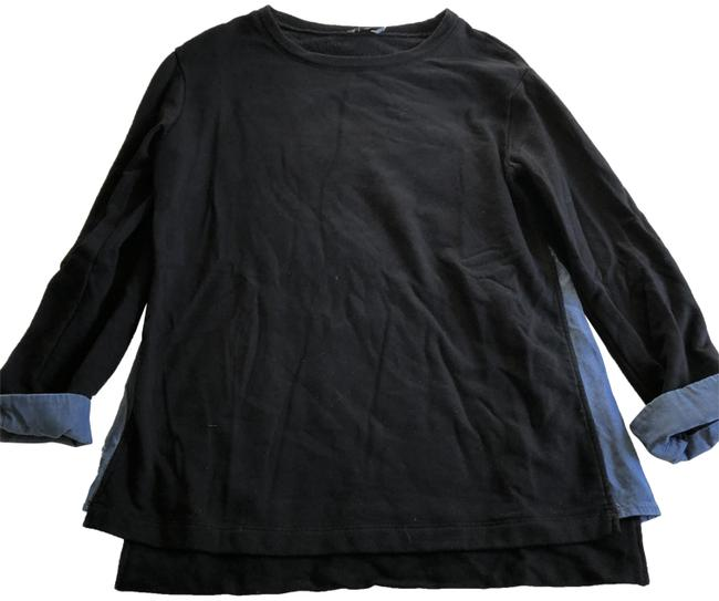 Preload https://img-static.tradesy.com/item/24181923/vince-mixed-media-34-crewneck-blue-black-sweater-0-1-650-650.jpg