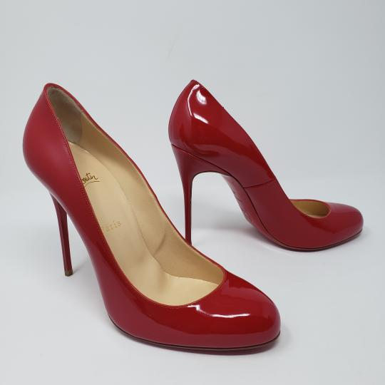 Christian Louboutin Platform Patent Leather New Simple Simple Bianca Red Pumps