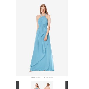 Turquoise Chiffon and Shimmer Style 725 From Modern Bridesmaid/Mob Dress Size 6 (S)