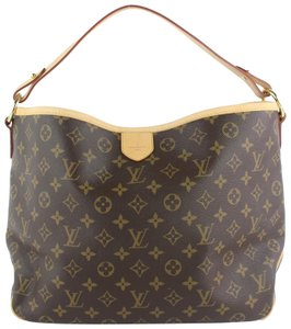 3424968214e1 Louis Vuitton Delightful Monogram Pm Brown Coated Canvas Hobo Bag ...