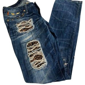 Robin's Jean Straight Leg Jeans-Distressed