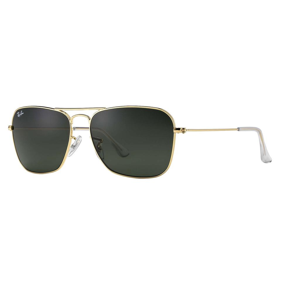 2d183a8b70 Ray-Ban Ray-Ban Gold Green Caravan Sunglasses Classic 55mm RB3136 Image 0  ...