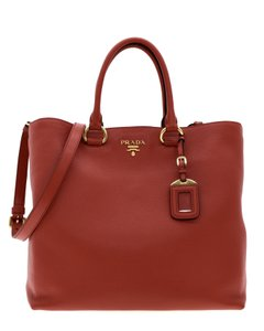 Prada Shoulder Tote in Red