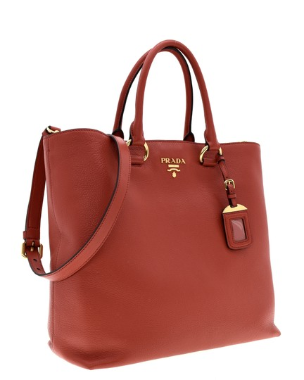 Prada Shoulder Tote in Red Image 1