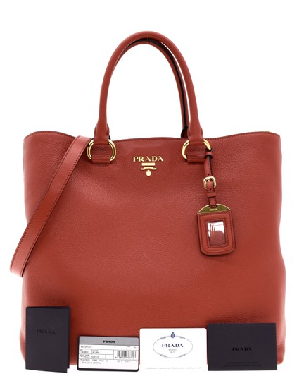 Prada Shoulder Tote in Red Image 3
