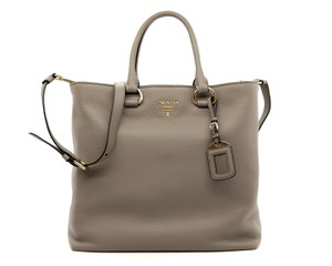 Prada Shoulder Tote in Grey