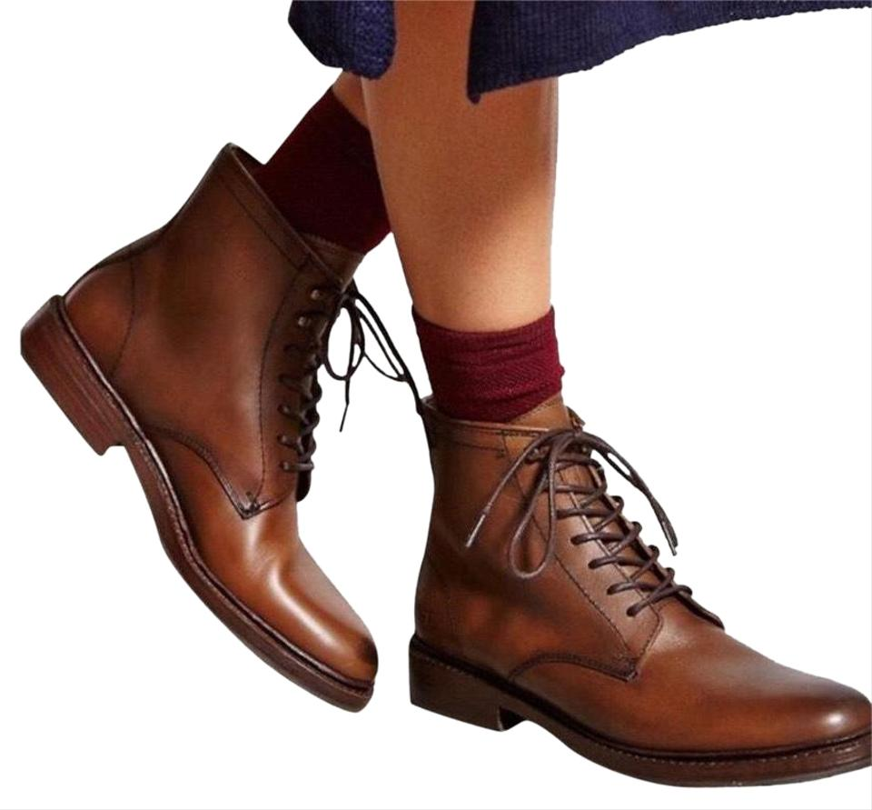 356f52c68b Frye Cognac Tyler Women's Lace Up Ankle Leather New Boots/Booties ...