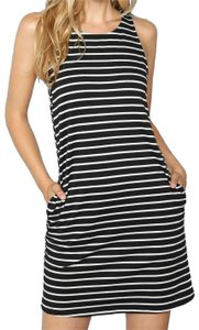 SheIn short dress Black and white Round Neck Pocket on Tradesy