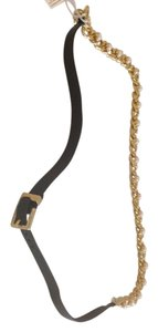 Tory Burch TORY BURCH AUTHENTIC NWT WINCHEL FAUX PEARL AND LEATHER STRAP NECKLACE