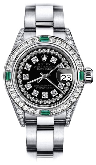 Preload https://img-static.tradesy.com/item/24182775/rolex-stainless-steel-black-string-sp-26mm-datejust-ss-diamond-lugs-and-emerald-watch-0-1-540-540.jpg