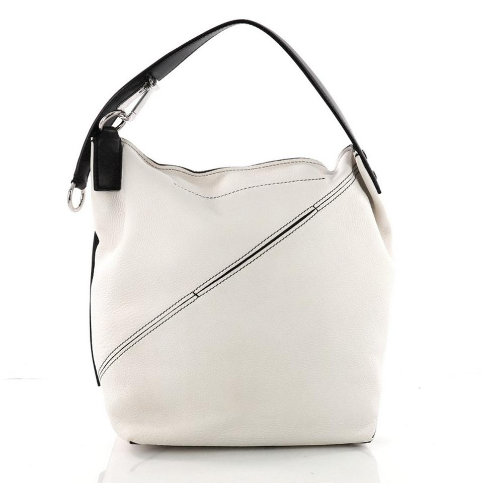 ad2840943aea Proenza Schouler Zip Pebbled Medium White Leather Hobo Bag - Tradesy