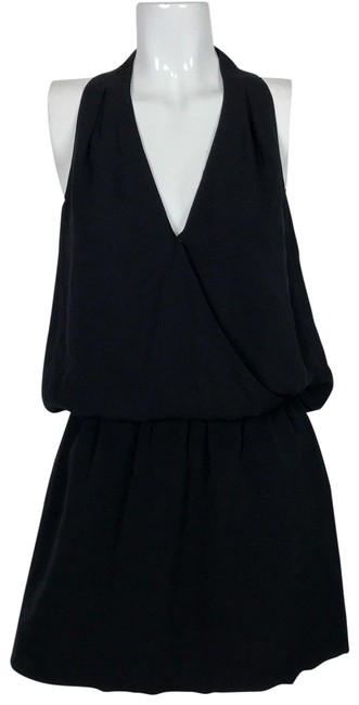 Preload https://img-static.tradesy.com/item/24182926/joie-black-blouse-silk-sleeveless-elastic-waist-tunic-size-8-m-0-2-650-650.jpg