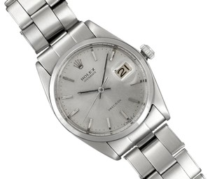 Rolex 1969 Rolex Vintage Mens Oysterdate Date Watch, Silver Dial - Stainless