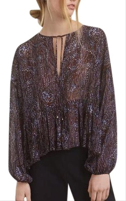 Preload https://img-static.tradesy.com/item/24182932/wilfred-blue-purple-new-aritiza-perrot-sheer-spotted-blouse-size-10-m-0-2-650-650.jpg