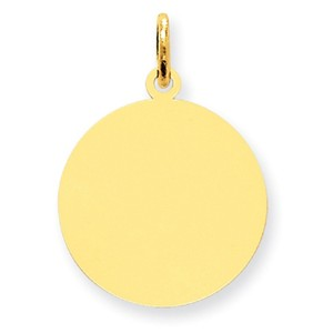 Apples of Gold 14K GOLD ENGRAVEABLE DISC CHARM PENDANT