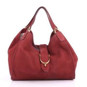 Gucci Leather Tote in dark red
