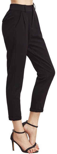 Preload https://img-static.tradesy.com/item/24182971/shein-black-cuffed-tapered-pant-trouserwide-leg-jeans-size-27-4-s-0-2-650-650.jpg