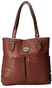 Relic Bleeker Tote in Black/Cappuccino/Red