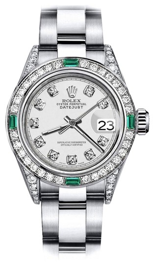 Preload https://img-static.tradesy.com/item/24183034/rolex-stainless-steel-ivory-track-26mm-datejust-diamond-lugs-and-emerald-watch-0-1-540-540.jpg