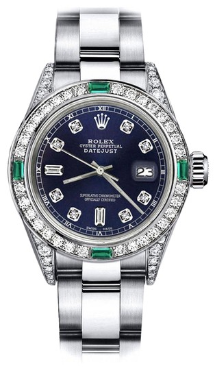 Preload https://img-static.tradesy.com/item/24183047/rolex-stainless-steel-navy-82-26mm-datejust-diamond-lugs-and-emerald-watch-0-1-540-540.jpg