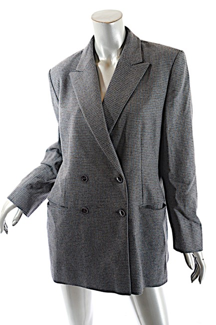 Luciano Barbera Mitchells Ct Doublebreasted Grey Blue Blazer Image 2